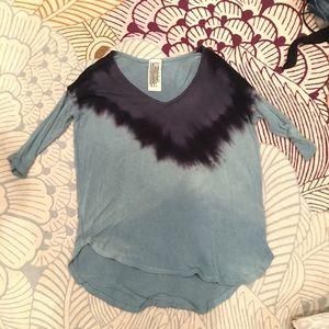 FREE PEOPLE blue lightweight sweater